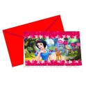 Cartons d'invitation Blanche Neige