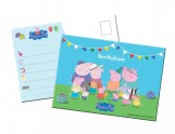 Cartons d'invitation Peppa Pig