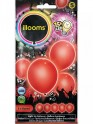 5 ballons LED Rouge