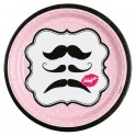 Assiettes Moustache