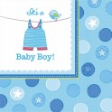 Serviettes bleues It's a Baby Boy