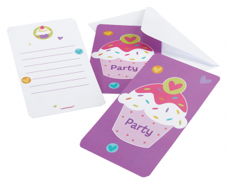Cartons d'invitation Cupcake