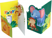 Cartons d'invitation Safari